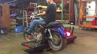 7. 2009 Harley Davidson Sportster Low XL1200L (blue) 1974 Fallen Cycles