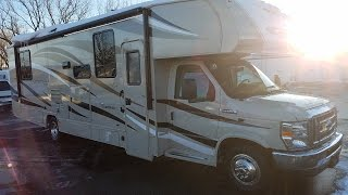 A brand new luxury class c for you to hit the road in! Introducing the Coachmen Leprechaun 319! Awesome features that you don't typically find in a  class c including: Automatic leveling jacks, tan painted cab, side view cameras, fireplace, & more! Call or stop in for more information!!