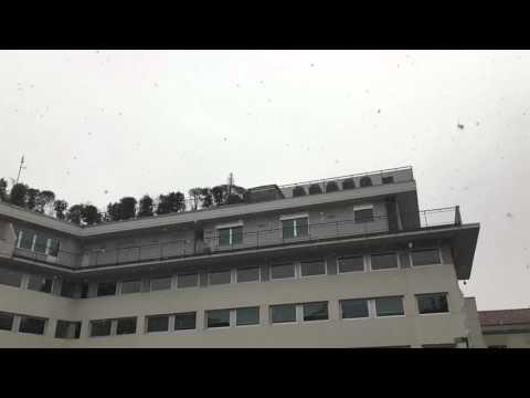 La neve a Bergamo sabato 2 gennaio
