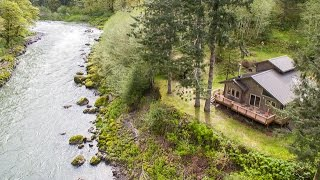 Gated Nehalem River front retreat on 20+ acres. This property, on the coveted fishing grounds of the Nehalem river, is an ...