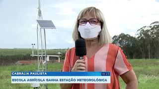 Cabrália Paulista ganha estação meteorológica