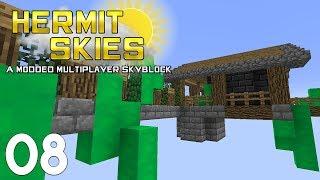 •PYTHON GETS SLIMEY! | Hermit Skies #8 | Modded Minecraft•