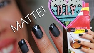 D.I.Y homemade MATTE NAIL Polish!!! | AndreasChoice - YouTube