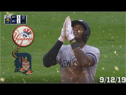 New York Yankees Highlights: vs Detroit Tigers | 9/12/19 (Game 1)