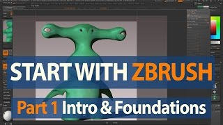 Zbrush Lession 1 - Beginning Course