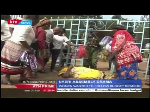 Hundreds of Women in Nyeri protested during Nyeri's County Assembly budget reading