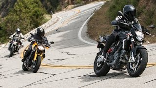 2. More for Less Shootout: Aprilia Shiver vs. Suzuki GSX-S750 vs. Yamaha FZ-09