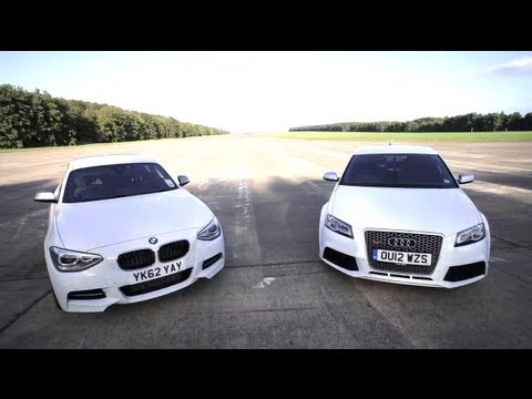 BMW M135i v Audi RS3: Road, Track, Drag-race. – /CHRIS HARRIS ON CARS