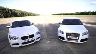 Bmw M135i V Audi Rs3: Road, Track, Drag-race. - Chris Harris On Cars