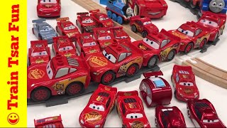 LIghtning McQueen Collection #ttfc There were a couple of slot cars I did not find that we do have. We had fun playing with these toys. Lighting McQueen from Disney Pixar Cars Cars 2 and Cars 3. Which is your favorite? Ended up testing the cars on the train track! How many Lightning McQueen's can you push before there is a crash? #lightiningmcqueentrainchallenge (okay - I just made up that challenge).Kid and family friendly videos about toy trains, real trains, and more!Thomas the Tank Engine, Chuggington, LEGO trains, and more fun!Please SUBSCRIBE for more Train fun: http://bit.ly/1v93HUTMy LEGO Channel: http://www.youtube.com/user/bricktsarMy Toys Channel: http://www.youtube.com/user/jolson37My Son: http://www.youtube.com/user/theymightbebricksMy daughter: http://www.youtube.com/user/sowhosthatgirlMrs. BrickTsar: http://www.youtube.com/user/seagrove697My Website: http://www.traintsarfun.comHelp support our channel by buying on Amazon: http://amzn.to/2aUvc1fLEGO on Amazon: http://amzn.to/2aEgHxVInstagram: http://www.instagram.com/traintsarfunFacebook: http://www.facebook.com/traintsarfunTwitter: http://www.twitter.com/traintsarfunRoyalty Free Music:Kevin MacLeod (incompetech.com)Licensed under Creative Commons: By Attribution 3.0http://creativecommons.org/licenses/by/3.0