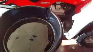 8. Honda Rubicon 500 GPS Oil Change