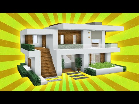 Minecraft: How to build a Large Modern house tutorial! (2019)
