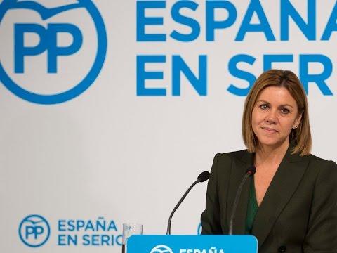"""Cospedal: """"Cuando la recuperación económica, la unidad, la seguridad y el futuro del país están en juego, la garantía es el PP """""""