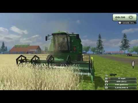 Farming Simulator 2013 Texas Edition-Test mod John Deere Combine model 2058