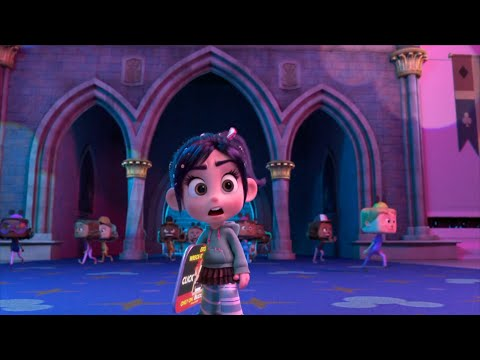 Vanellope visits the Disney website | Wreck-It-Ralph 2 | Animated Stories Funny