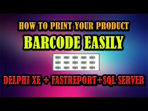 Delphi & Fastreport Tutorial | How To Print Your Product Barcode