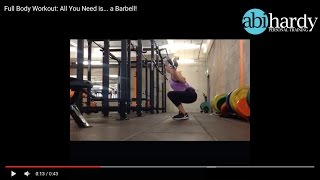 Full Body Workout - All you need is... a Barbell!