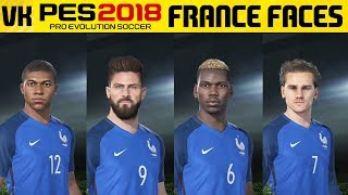 Here is a video showcasing the France player faces from the PES 2018 Online Beta. Special thanks to https://twitter.com/onlyproevo for showing me the trick to get player facesWelcome to the #1 Place for Player Faces on Youtube! Subscribe for FIFA 18 and PES 2018 news and player faces videos: 🔴  Subscribe to the channel here: https://goo.gl/AaHRHe .✅  Join the Vapex Club for exclusive newsletters and 2 Private videos (FIFA 18 player face suggestions and PES 2017 Mods): http://eepurl.com/cO1skn✅  Help keep this channel going!https://www.patreon.com/VapexKarma---------------------------------------------------------Available September 29, 2017. FIFA 18 is fueled by Cristiano Ronaldo, all-time top scorer of Real Madrid C.F. and winner of the Best FIFA Men's Player Award.Pre-Order the Ronaldo Edition and get 3 Days Early Access: http://smarturl.it/qoctk5Powered by Frostbite, FIFA 18 blurs the line between the virtual and real worlds, bringing to life the heroes, teams, and atmospheres of the world's game. --------------------------------------------------------PES 18 (PES 2018) is scheduled to be released on the 14th of September.Pre-order now to receive exclusive content:• 2x Premium Partner Agents for myClub• UCL Agent for myClub• Exclusive Agent for myClubYou will also receive bonus myClub content:• 4x Start Up Agents• 1x Partner Club Agent• 10,000 GP x 10 weeksPES 2018 new features:• Gameplay Masterclass – Strategic Dribbling, Real Touch+ and new set pieces take the unrivalled gameplay to the next level• Presentation Overhaul – New menus and real player images• PES League Integration – Compete with PES League in new modes including myClub• Online Co-op -A mode dedicated to co-op play is newly added• Random Selection Match – Fan favourite returns with new presentation and features• Master League Upgrade – New pre-season tournaments, improved transfer system, presentations and functionality • Enhanced Visual Reality – New lighting, reworked player models and animations covering everything from facial expressions to body movement to bring the game to life----------------------------------------------------------► Subscribe to my Other Channel https://www.youtube.com/channel/UC-OlFXbaW43YlKqfVy1Tp6g►2nd Channel featuring non player faces content (uploads occasionally): https://www.youtube.com/channel/UCjXed8aFG8cxnYm0iNQraWg?tbft=1►If you would like to Donate (just like Twitch) to support my content :  https://streamtip.com/y/vapexkarma--------------------------------------------------------► Twitter: @vapexkarma ► Facebook: @vapexkarma► Instagram: @vapexkarma► Podcast: anchor.fm/vapexkarma----------------------------------------------------------► My Best videos: https://www.youtube.com/playlist?list=PLeVkMvUsXzoEdcbKCQIIUxwTNvppKYBQo► PES 2017: Inter Milan Master League: https://www.youtube.com/playlist?list=PLeVkMvUsXzoHZBuaHdW8ieM1ROA3xD6p9► FIFA 17 vs PES 17 Player Face Comparisons: https://www.youtube.com/playlist?list=PLeVkMvUsXzoFjICBaqUzkwoDYbuLribm4----------------------------------------------------------FIFA 17 is a sports video game made by EA Sports released on the 27th of September 2016 in America and 29th September 2016 worldwide. It uses the Frostbite engine and Marco Reus is the official cover star. Available on PS4, PS3, Xbox One s, Xbox one, Xbox 360 and PC.----------------------------------------------------------Pro Evolution Soccer or PES 2017 (also known as Winning Eleven 2017 in asia) is a sports video game made by Konami for Microsoft Windows, PlayStation 3, PlayStation 4, Xbox 360 and Xbox One. The game is the 16th installment in the Pro Evolution Soccer series. It was released in September 2016 and will be compatible with PS4 Pro console. Partner clubs include Barcelona, Liverpool, Borussia Dortmund and River Plate which means they have the official stadiums and kits as well as player names.Features include improved passing, Real Touch ball control, and improved goal tending technique. The cover of the game has Neymar, Messi, Suárez, Rakitić and Piqué.Game features include adaptive AI, edit and data sharing (through option files) and Match analysis.----------------------------------------------------------------------------------Production Music courtesy of Epidemic Sound: http://www.epidemicsound.com----------------------------------------------------------------------------------#PES2018 #FIFA18 #vapexkarma #playerfaces #PES2017 #FIFA17