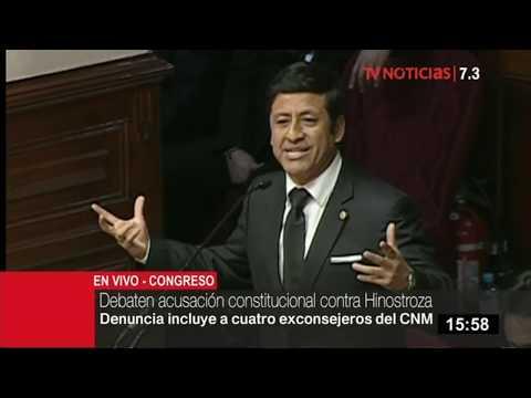 Guido Aguila expuso alegatos de defensa ante el pleno del Congreso
