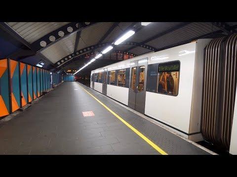 Norway, Oslo, metro ride from Nationaltheatret to Stortinget, 2X escalator, 1X elevator
