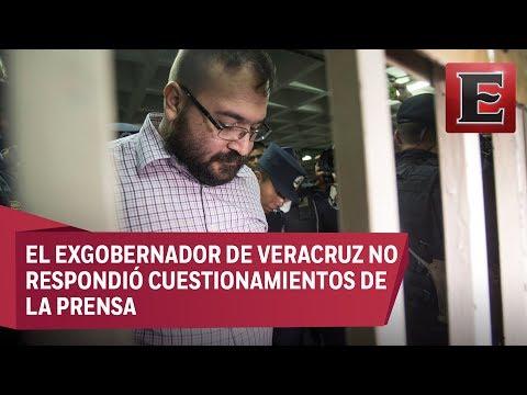 Javier Duarte llega a juzgado guatemalteco para nueva audiencia