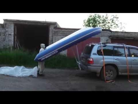 как транспортировать лодку на багажнике