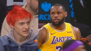 Video Ninja IMPRESSED By LeBron James & Lakers While Watching Courtside! Lakers vs Nets MP3, 3GP, MP4, WEBM, AVI, FLV Januari 2019
