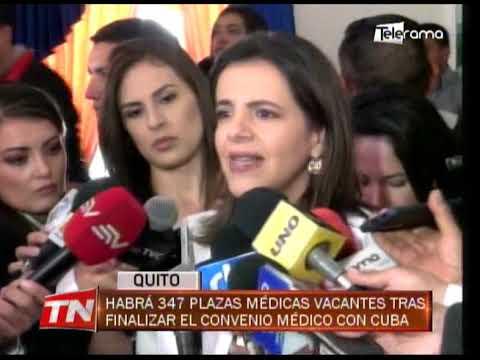 Habrá 347 plazas médicas vacantes tras finalizar el convenio médico con Cuba