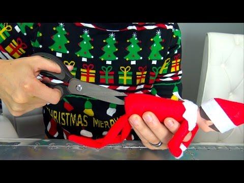 What's inside the Elf on the Shelf? (видео)