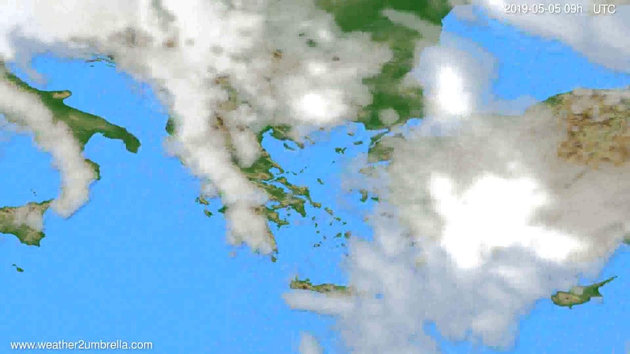 Cloud forecast Greece // modelrun: 12h UTC 2019-05-03