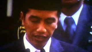 Pidato Pertama saat menjadi Presiden RI, Jokowi