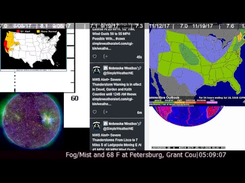 News Earthquakes Space Weather Storm Warnings Tornado Watches Kilauea Volcano Flood  Solar Flare_Best sun videos of the week