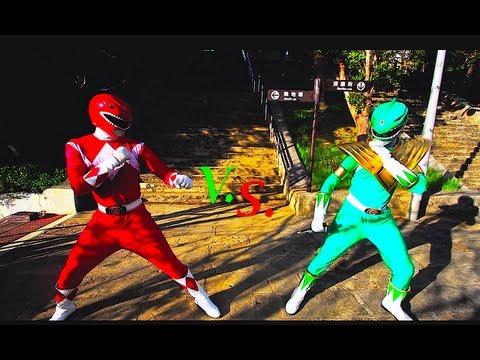 видео белый рейнджеры против зеленого рейнджера