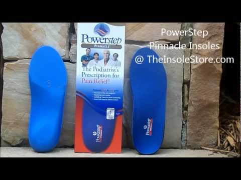 Powerstep Pinnacle Insoles & Orthotics Review @ TheInsoleStore.com