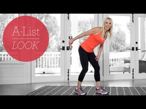 One Dumbbell Total Body Tone Workout   A-List Look With Valerie Waters