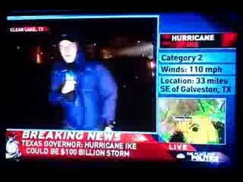Ike turns Weather Channel reporter into human wind sock