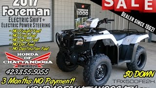 4. 2017 Honda Foreman 500 ES + EPS ATV Review of Specs / Features - TRX500FE2H - @ Honda of Chattanooga