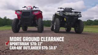 10. 2016 Polaris / Sportsman 570 vs. Can-Am Outlander 570