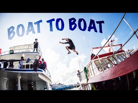 FREERUNNING ACROSS THE HARBOUR! - MALDIVES