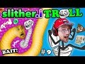 Download Lagu SLITHER.itrOll ☠ TRAP BAIT & TROLL FACE! Duddy's Slither.io #9 & Toilet Success Games (FGTEEV 2in1) Mp3 Free