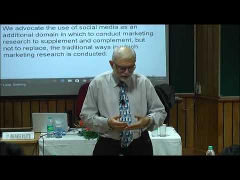 Prof Naresh Malhotra taking Session on Teaching Marketing Research