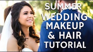 """In this STEP BY STEP BEAUTY TUTORIAL I am taking you behind the scenes with me on a wedding and bridal makeup and hair client to share with you how to achieve a summer bridal glam look for your special day. If you would like to book me as your bridal hair and makeup artist- contact me via my website http://www.mathias4makeup.comRemember to click on the THUMBS UP TAB if you liked this video and leave me a comment down below!  SUBSCRIBE TO MY BEAUTY CHANNEL RIGHT HERE for weekly Beauty Demos, Product Reviews, Makeup Tutorials, and MORE! http://bit.ly/1pX0dBgWould YOU like to be updated on my newest Online Courses , Makeup Classes & Seminars? Sign up here http://bit.ly/2axZUOpCHECK OUT SOME OF MY OTHER AMAZING BEAUTY DEMOS HERE-Bridal Makeup Tutorials & Wedding Day Makeup & Hair Vlogs  http://bit.ly/1LJnwFKBEST BRIDAL MAKEUP & HAIR IN LOS ANGELES  AMAZING WEDDING MAKEUP & HAIR ARTISThttp://bit.ly/1RWv6CmBridal Makeup for Acne Prone Skin Demo Step by Step Tutorialhttp://bit.ly/2cDXETR FOLLOW ME on FACEBOOK every Wednesday at 5pm PST during my LIVE Q&A on my Fan Page http://www.facebook.com/mathias4makeupLucky for you I am the only Pro Makeup Artist on YouTube that offers private makeup lessons as well! I teach one on one personal makeup lessons in L.A. at my studio or live over video conference from home, check out my vlog about how you and I can work together! http://bit.ly/1I0Eww3LIKE MY EYEWEAR??? BUY YOUR OWN FRAMES AT FIRMOO HERE!FIRMOO EYEWEAR- Please use my affiliate link to get Free Shipping Worldwide for orders over $55http://bit.ly/2mepvktMY PERSONAL FILMING EQUIPMENT AND ACCESSORIES-Diva Ring Light Super Nova 18"""" Dimmable Ring Light http://amzn.to/29QMj2ZCowboy Studio 9' Foot Air Cushion Aluminum Stand for Lighthttp://amzn.to/29L0PrgThe Makeup Light Key Light Starter Kit, Nickel / White with Adjustable Gooseneck, Stand, and Shoulder Baghttp://amzn.to/29KSic1Canon EOS70D Digital SLR Camera Kit w Lens & Accessorieshttp://amzn.to/2aiDehKTAKSTAR Professional MIC """