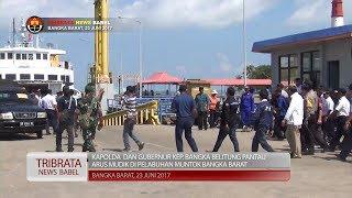 KAPOLDA DAN GUBERNUR BANGKA BELITUNG PANTAU ARUS MUDIK DI PELABUHAN LAUT #TRIBRATA NEWS