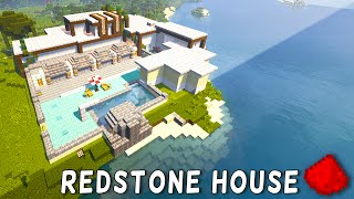 Redstone Modern Beach House (Redstone Modern Mansion) - Minecraft Redstone Maps