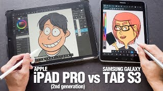 Find out which is better for digital drawing, the Apple iPad Pro (2nd gen) or the Samsung Galaxy Tab S3.Text review: http://www.parkablogs.com/content/samsung-galaxy-tab-s3-vs-ipad-pro-artist-comparison-reviewSamsung Tab S3 text review:http://www.parkablogs.com/content/artist-review-samsung-galaxy-tab-s3-s-peniPad Pro (2017) text review:http://www.parkablogs.com/content/artist-review-ipad-pro-129-2017Samsung Tab S3 on Amazon (affiliate links):US: http://amzn.to/2qAdKXoCA: http://amzn.to/2rl8wPPUK: http://amzn.to/2qDMeWVDE: http://amzn.to/2qYOhaMFR: http://amzn.to/2qDJzwkES: http://amzn.to/2q35iffIT: http://amzn.to/2pRUuFBJP: http://amzn.to/2qAceV0Find me onYoutube: https://www.youtube.com/user/teohycParkaBlogs: http://www.parkablogs.comFacebook: https://www.facebook.com/parkablogsTwitter: https://twitter.com/ParkaBlogsFlickr: https://www.flickr.com/photos/parkablogsInstagram: https://instagram.com/parkablogsGumroad: http://gumroad.com/parkablogsPatreon: https://www.patreon.com/parkablogs