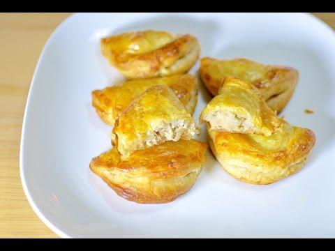 panzerotti di pasta sfoglia integrale ripieni di tonno e cipolla-ricetta