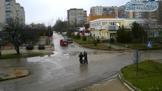 Перекрёсток в Щёлкино, 09.02.2015 - time-lapse с камеры 2