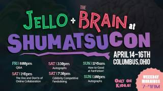 Come see JelloApocalypse and pLasterbrain at SHUMATSUCON on April 14-16th in COLUMBUS, OHIO!Get your tickets here!http://www.shumatsucon.com/register/Plaster was over this weekend and this Bad Early Morning Radio Show bit just kind of happened.---SCHEDULE:Friday:8:00 P.M. - Q&ASaturday:1:45 P.M. - The Dos and Don'ts of Online Collaboration3:30 P.M. - Autographs7:30 P.M. - Celebrity Competitive FandubbingSunday:11:15 A.M. - How To Good at Fanfiction!1:00 P.M. - Autographs---Music:Kevin MacLeod - Disco Medusae