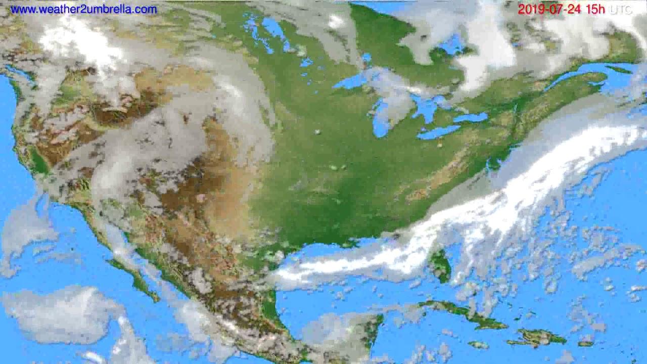 Cloud forecast USA & Canada // modelrun: 12h UTC 2019-07-21