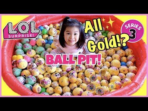 LOL Surprise Confetti Pop BALL PIT! All ULTRA RARE GOLD Balls Found!!